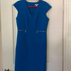 Royal blue fitted dress
